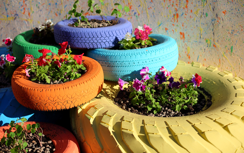 Header Upcycling Ideen für den Garten