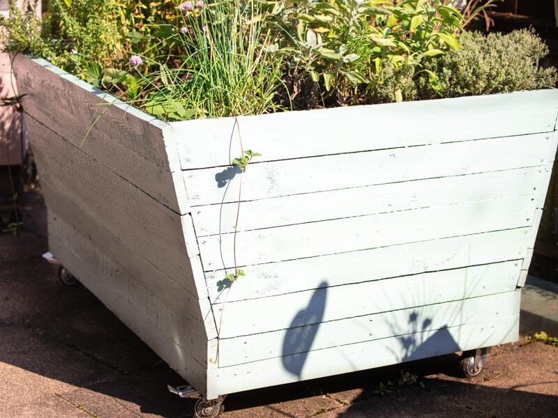 Balkon-Hochbeet bepflanzen