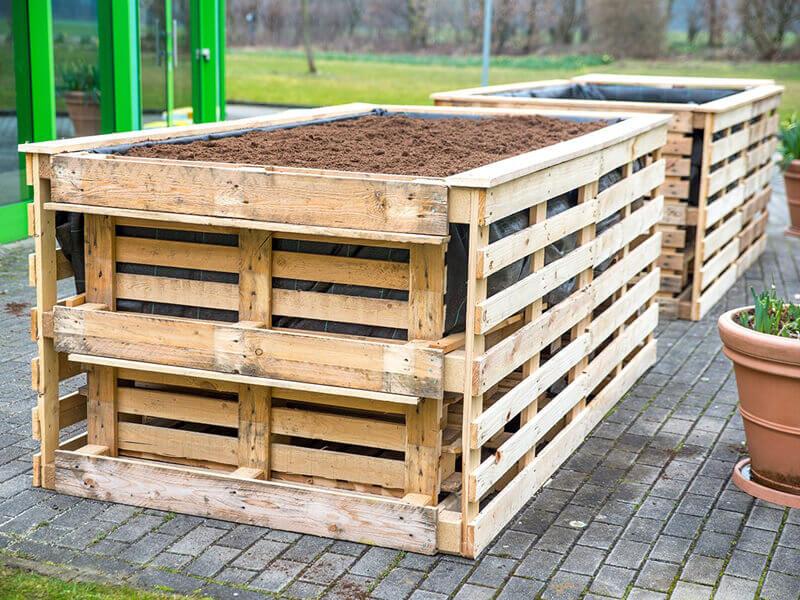 Hochbeete selbst bauen - Palettenhochbeet bauen leicht gemacht